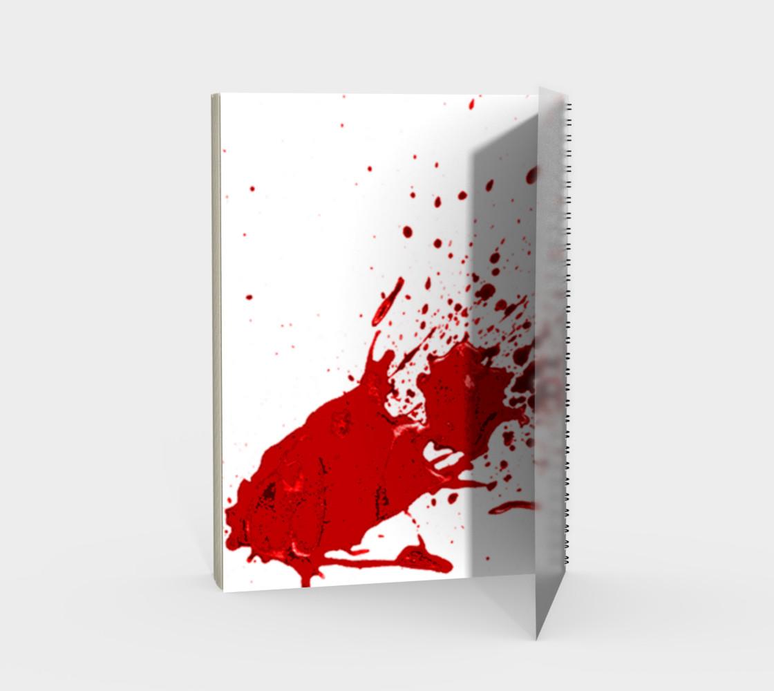 Blood Splatter First Cosplay Halloween Spiral Notebook preview #2