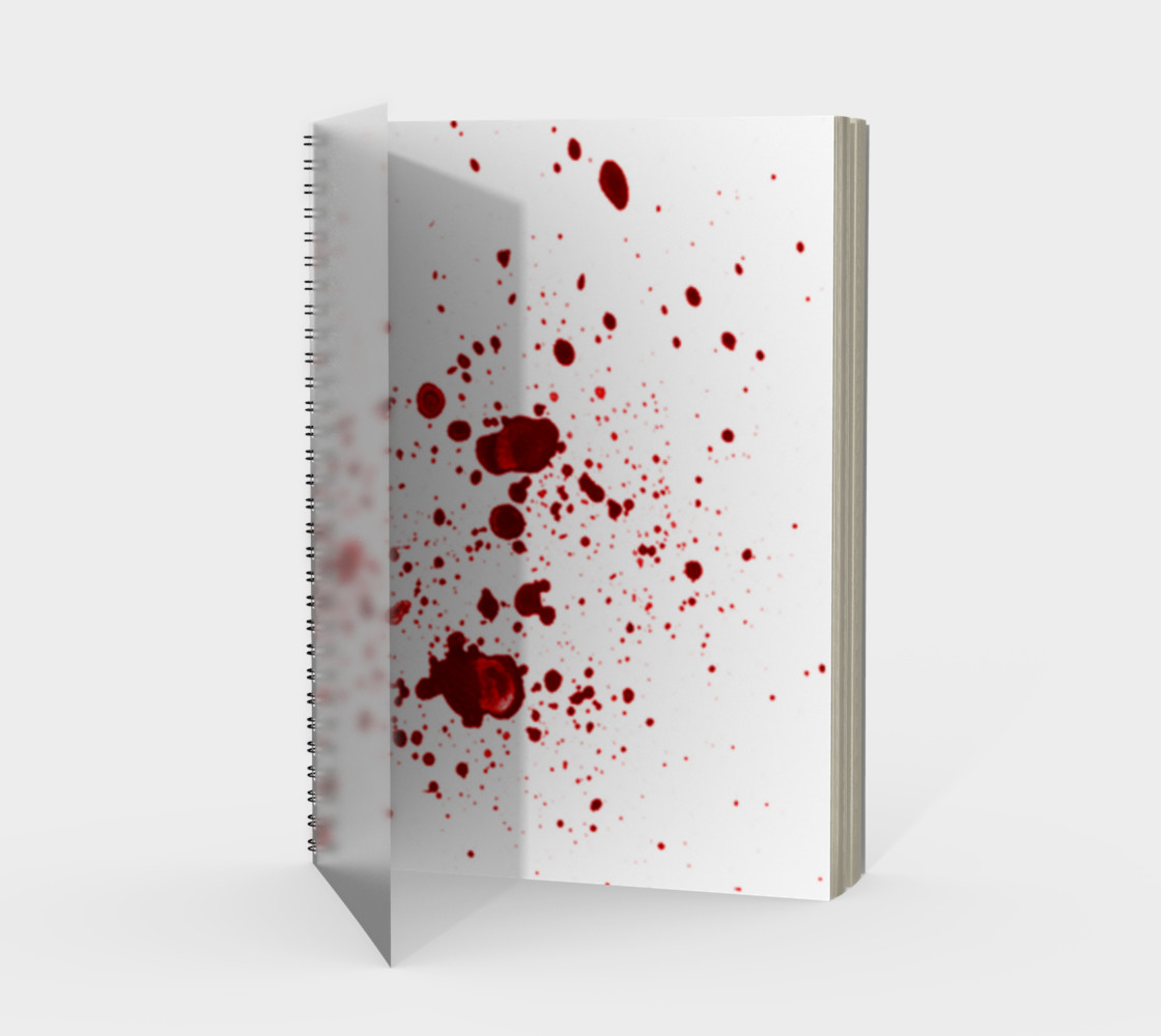 Blood Splatter First Cosplay Halloween Spiral Notebook preview #1