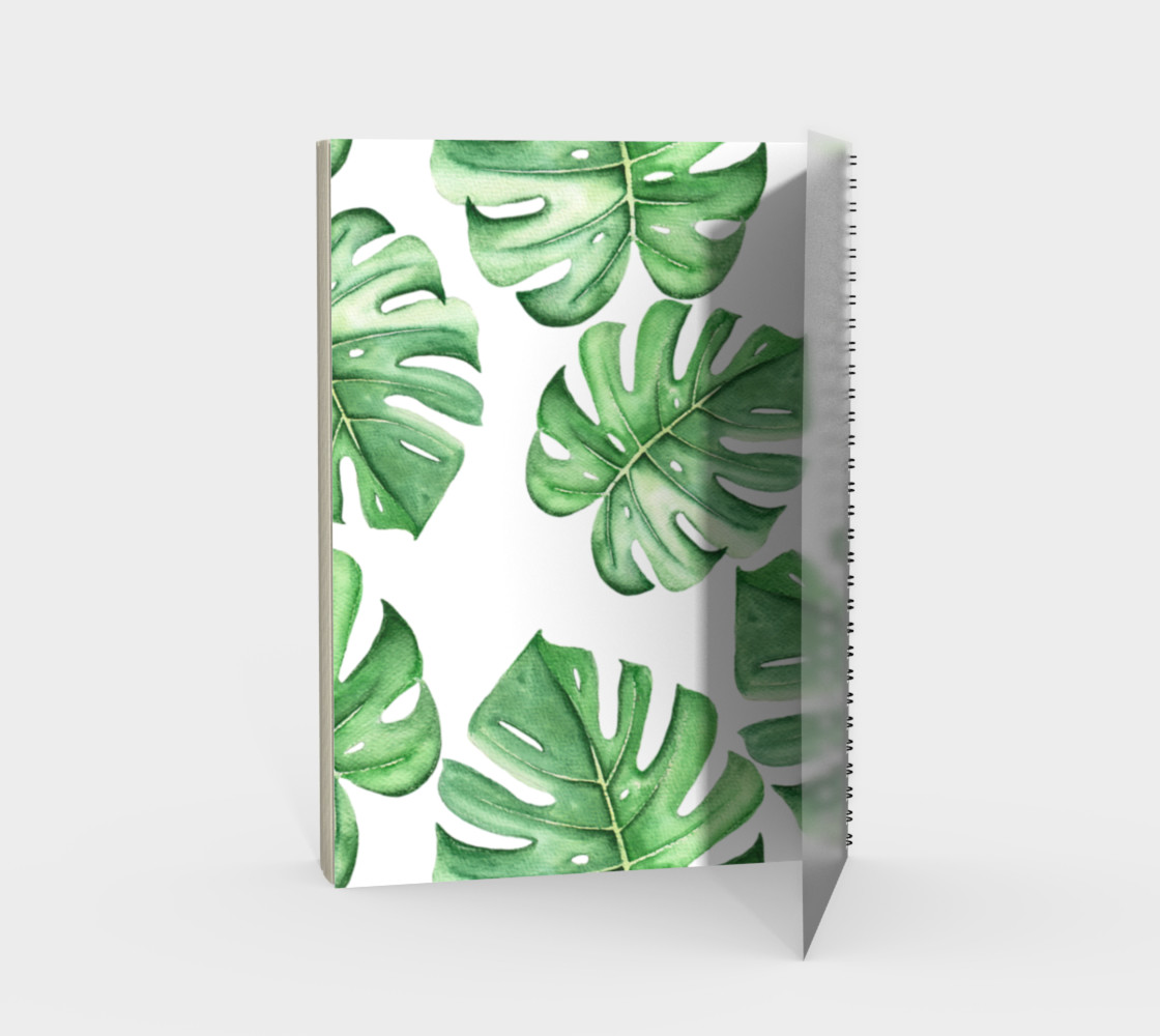 Tropical Leaves Spiral Notebook By Marinka Kartinka Shop Art Of Where Each notebook is finished with gold foil detail. tropical leaves