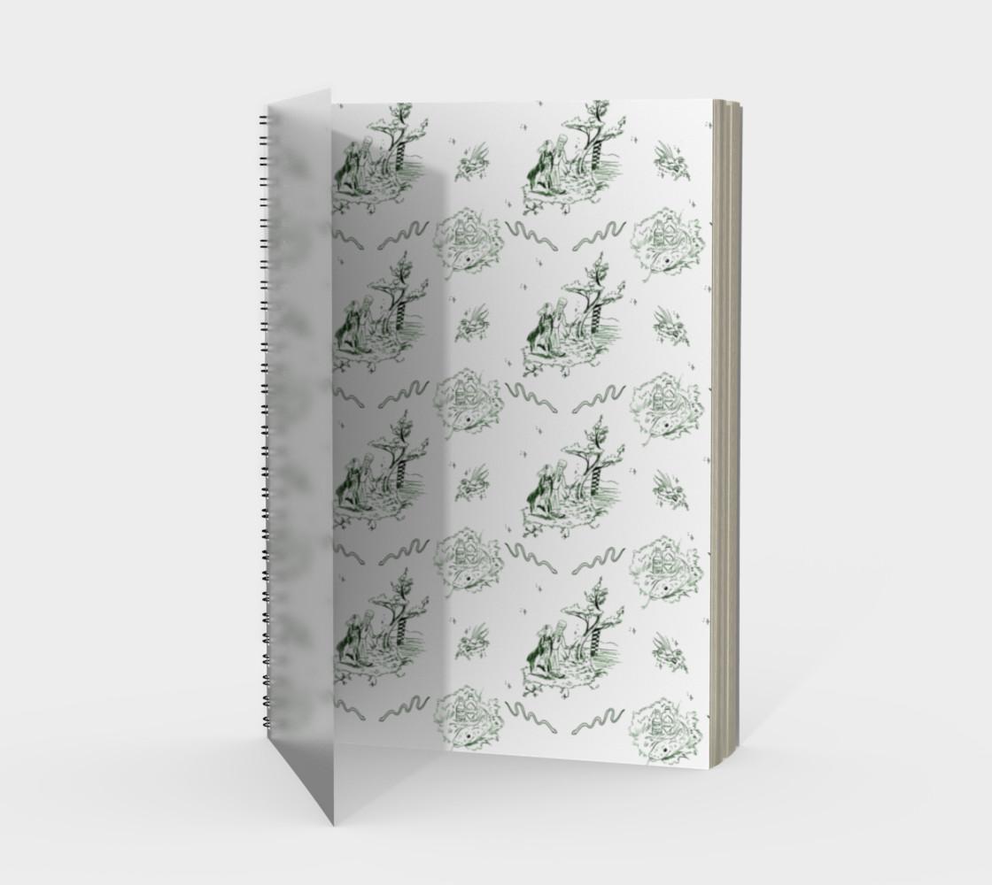 Aperçu de Slytherin Toile Notebook #1