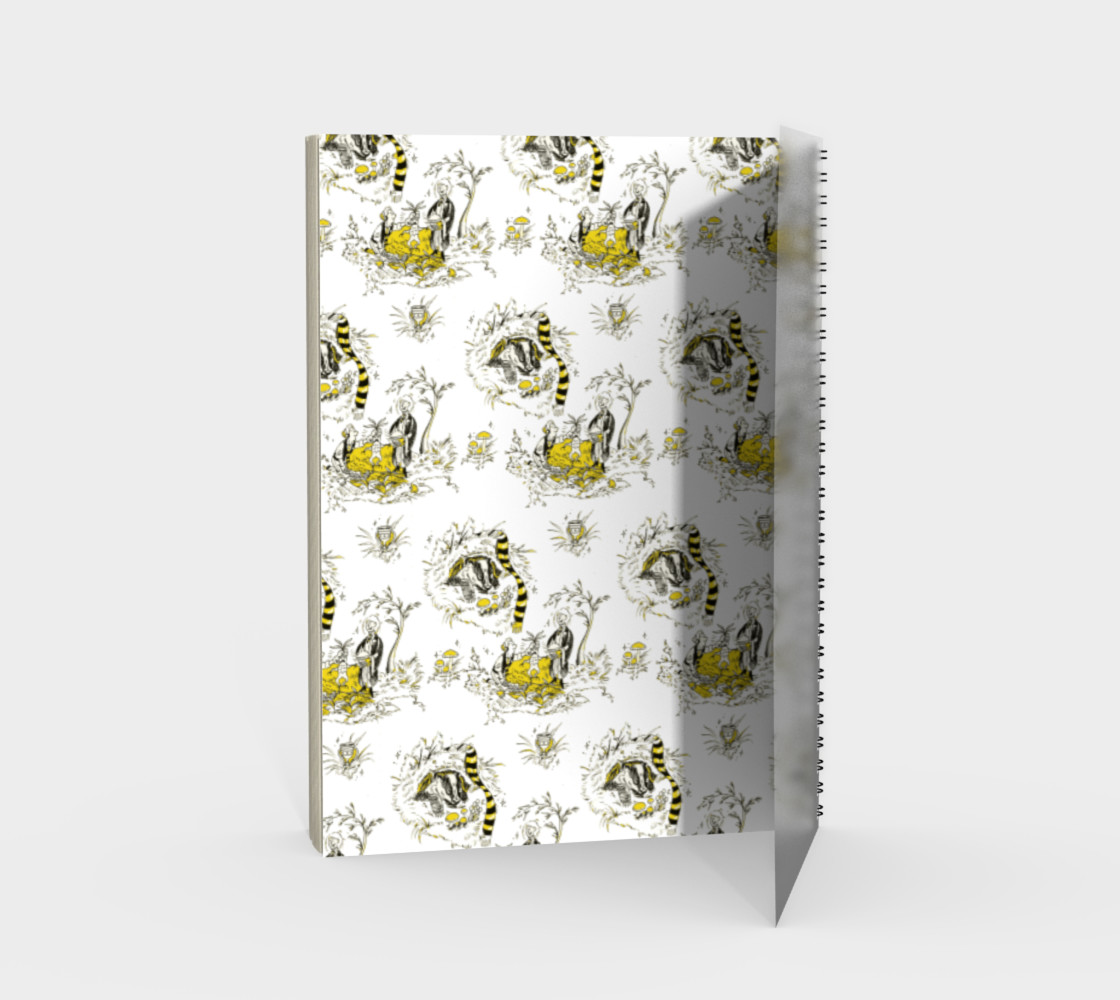 Hufflepuff Toile Notebook preview #2