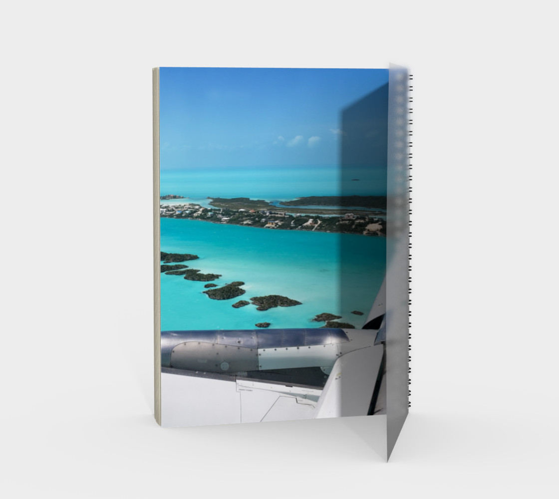 Turks and Caicos Airplane Vew  Spiral Notebook Miniature #3