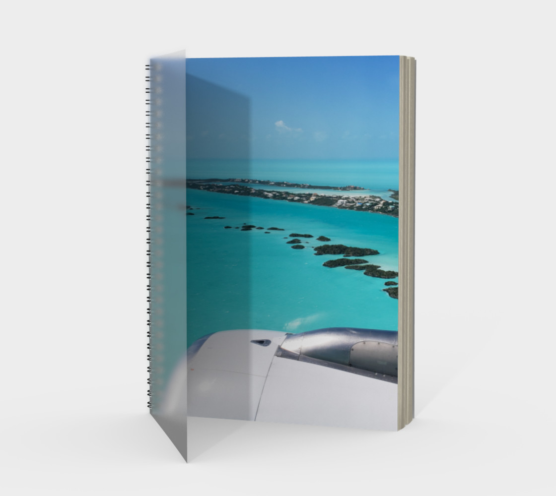 Turks and Caicos Airplane Vew  Spiral Notebook Miniature #2