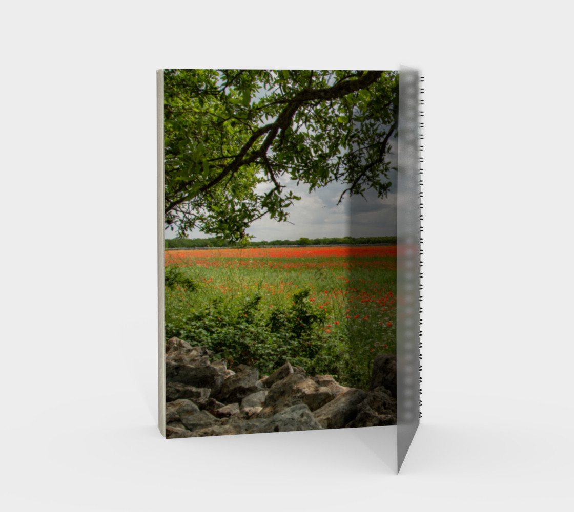 Utterly Italy Puglia Poppy Field Notebook preview #2