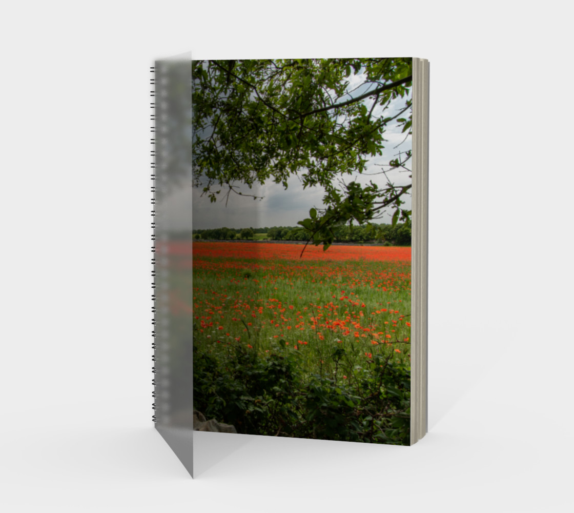 Utterly Italy Puglia Poppy Field Notebook preview #1