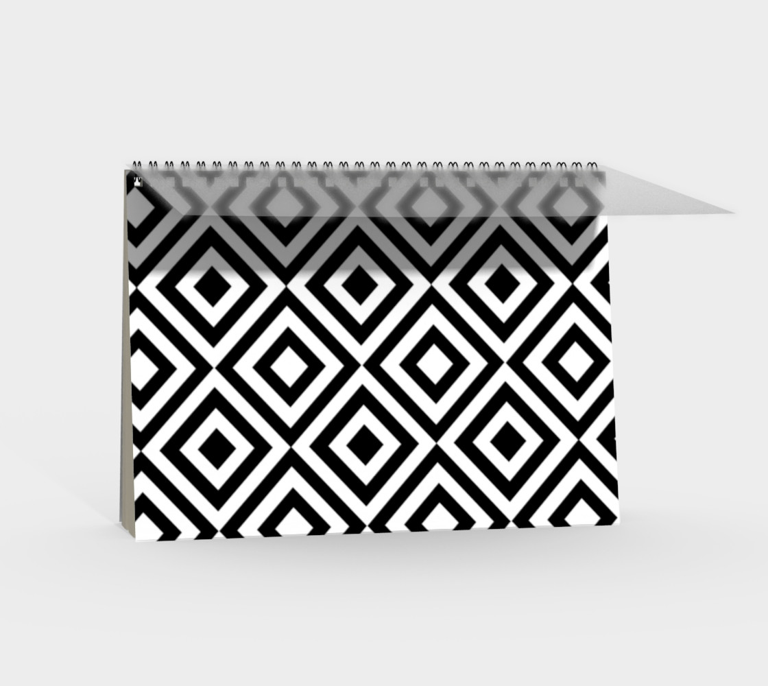 Black and White Geometric Spiral Notebook preview #2