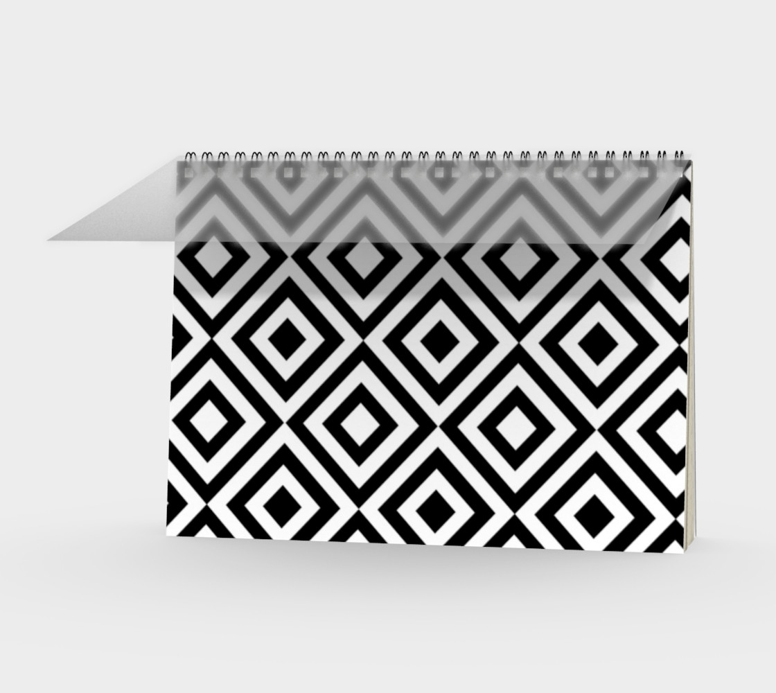 Black and White Geometric Spiral Notebook preview #1