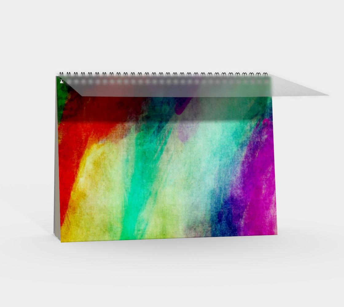 Aperçu de Abstract Paint Splats Spiral Notebook #2