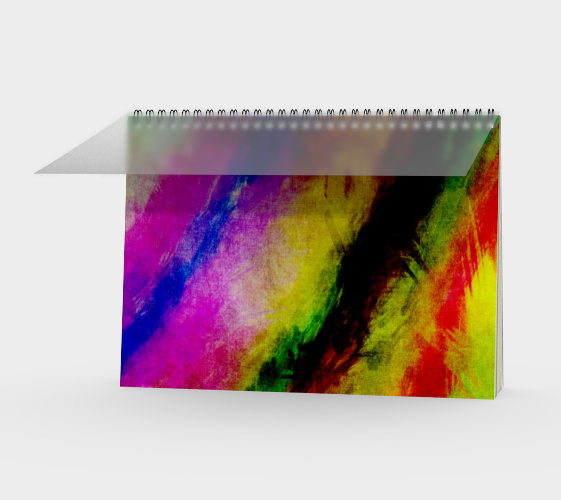 Aperçu de Abstract Paint Splats Spiral Notebook #1
