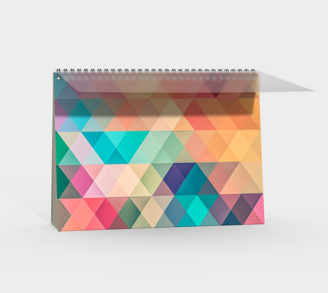 Geometric Texture Pattern Spiral Notebook preview #2