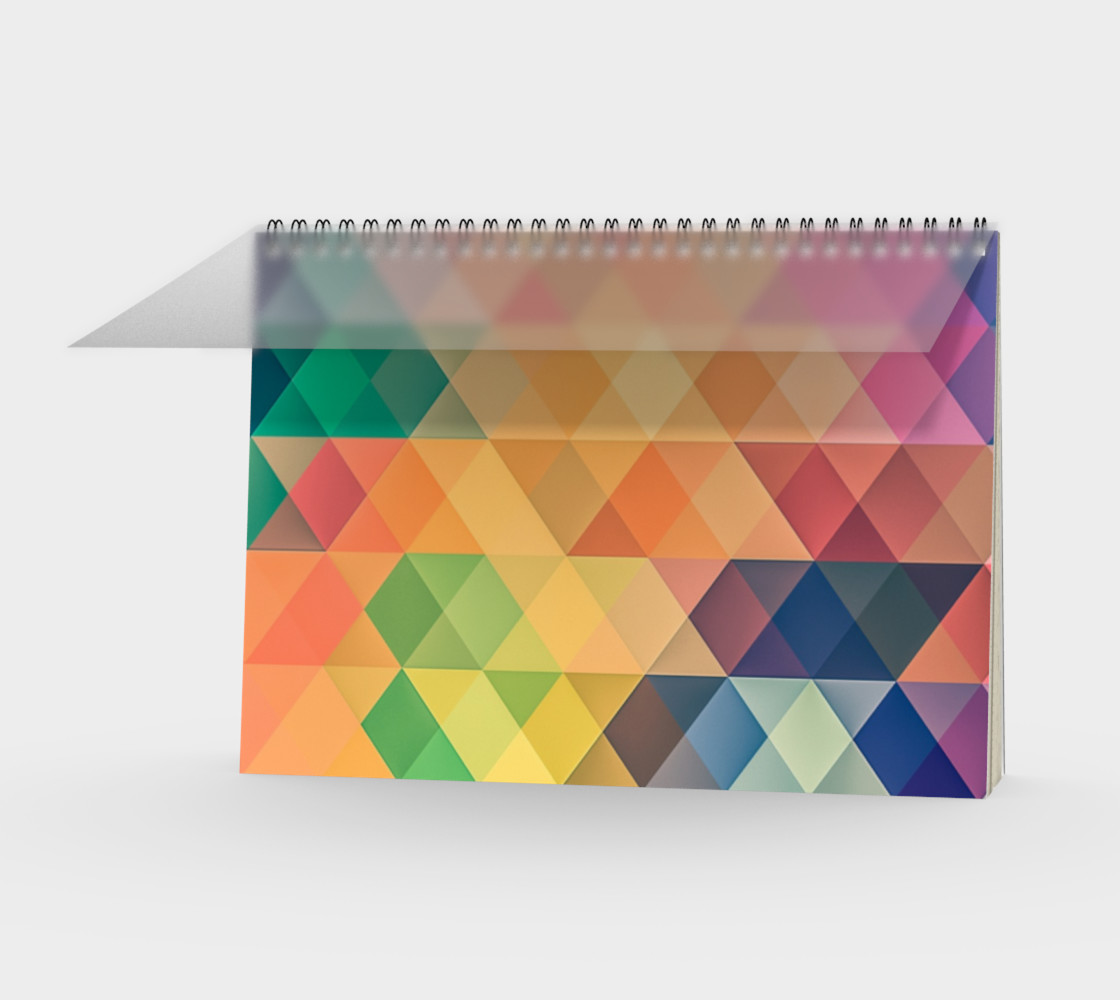Geometric Texture Pattern Spiral Notebook preview #1