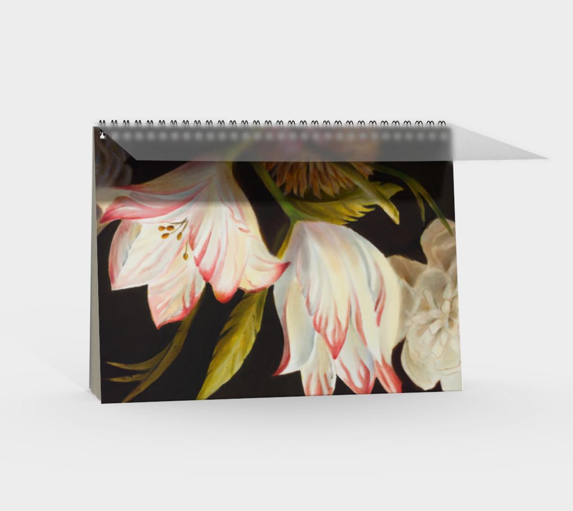 Aperçu de Winter Floral Spiral Notebook #2