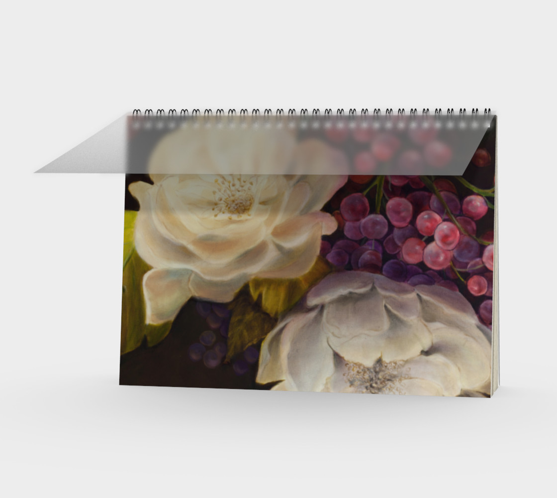 Winter Floral Spiral Notebook 3D preview
