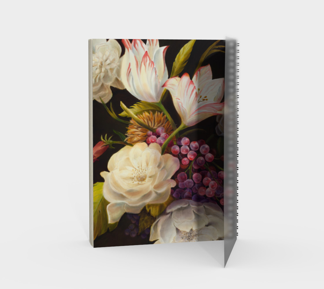 Winter Floral Spiral Notebook preview #2