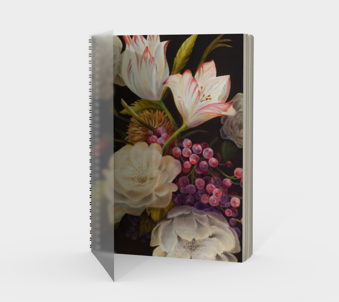 Winter Floral Spiral Notebook preview #1