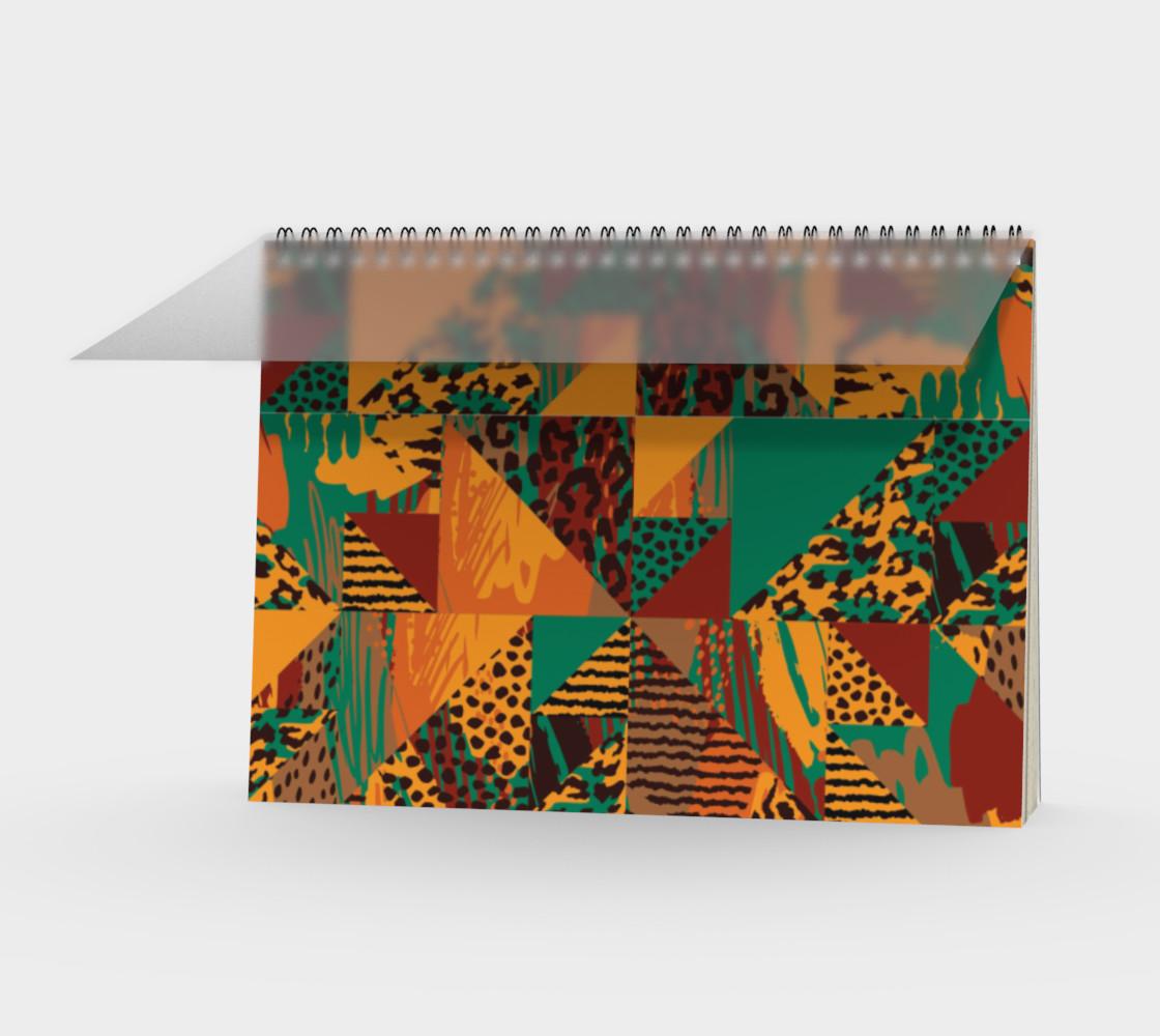 Abstract Safari Print Spiral Notebook preview #1