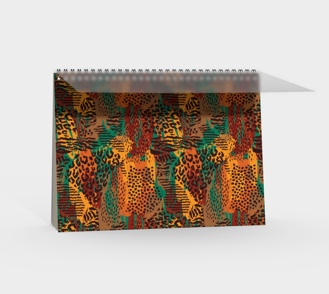Safari Animal Print Mashup Spiral Notebook preview #2