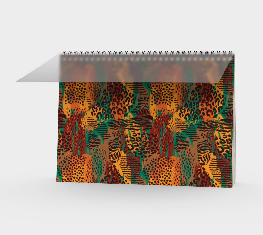 Safari Animal Print Mashup Spiral Notebook preview #1