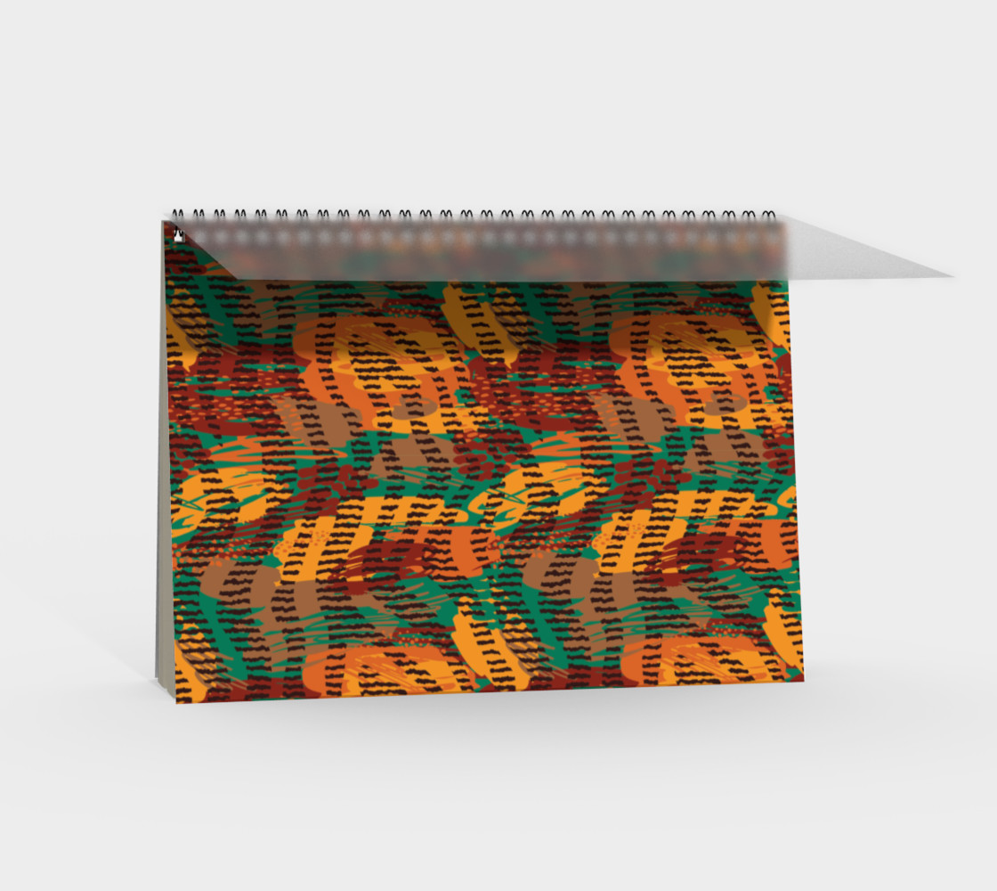 Abstract Animal Stripes Spiral Notebook preview #2