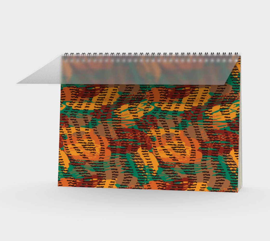 Abstract Animal Stripes Spiral Notebook preview #1