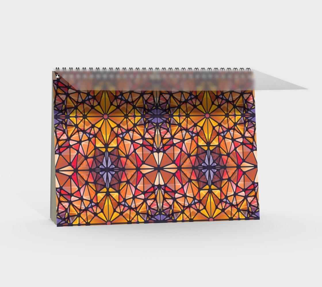 Amber Kaleidoscope Spiral Notebook preview #2