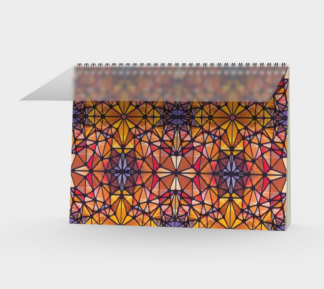 Amber Kaleidoscope Spiral Notebook preview #1