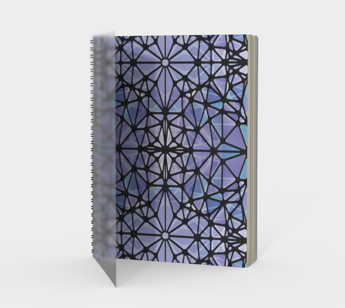 Purple and Blue Kaleidoscope Spiral Notebook - Portrait preview #1