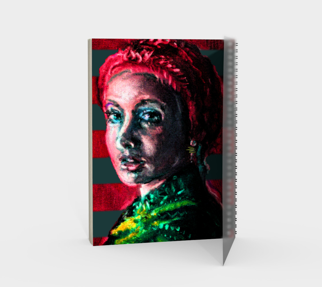 Girl with the Devin Earring  Spiral Notebook (48 pgs./blank) preview #2