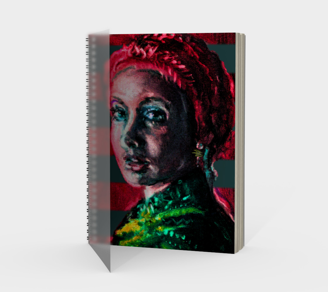 Girl with the Devin Earring  Spiral Notebook (48 pgs./blank) preview #1