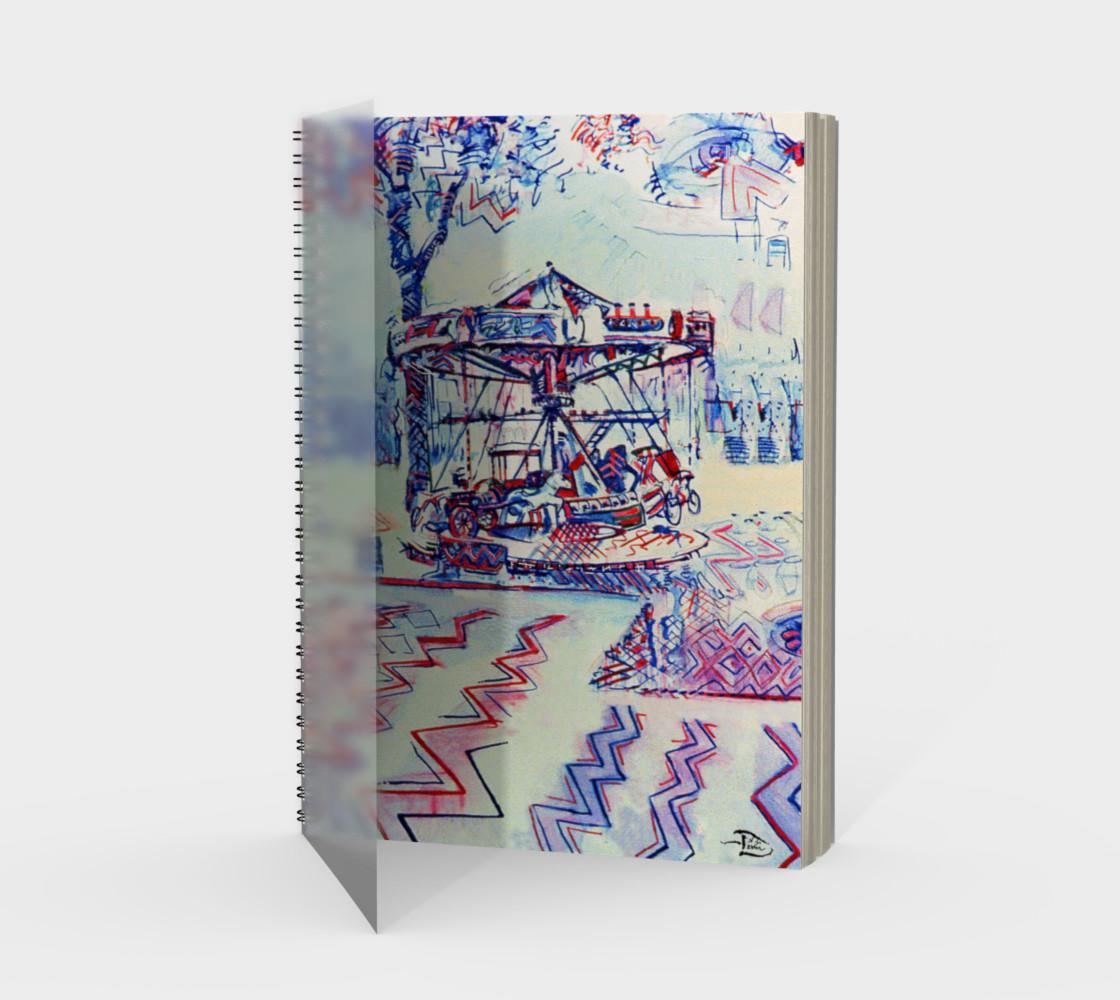 Aperçu de Luna Park Spiral Notebook (48-pgs./blank) #1