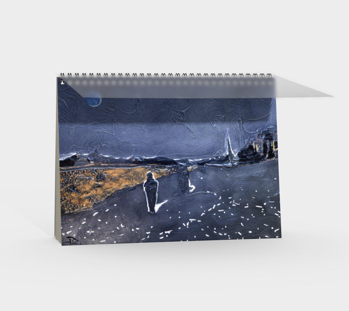 Aperçu de Goth/Cosplay Midnight Beach Notebook, 48-pg Spiral (blank) #2