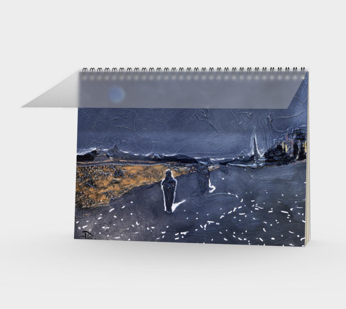 Aperçu de Goth/Cosplay Midnight Beach Notebook, 48-pg Spiral (blank) #1