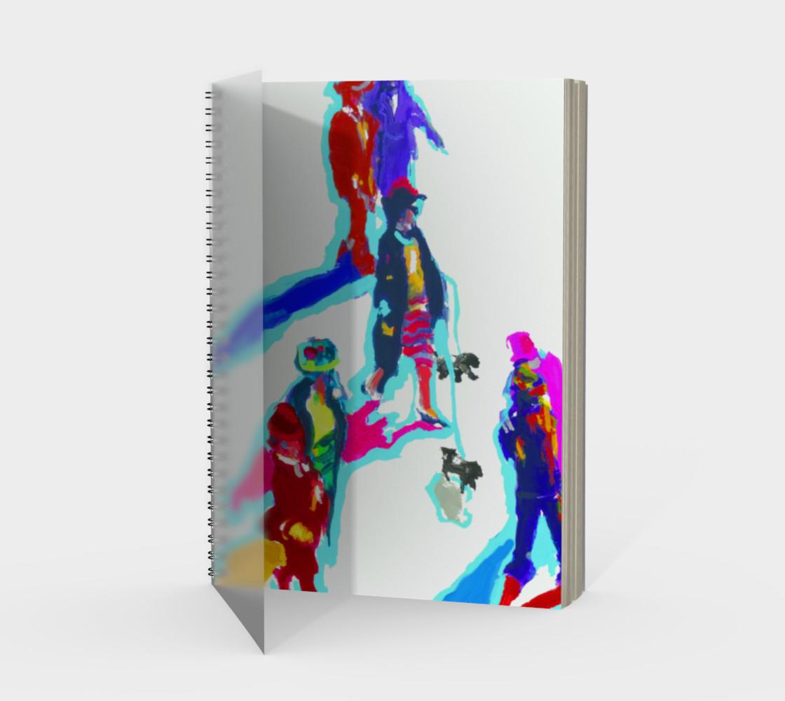Aperçu de City Girl Spiral Notebook (48-pgs./blank) #1