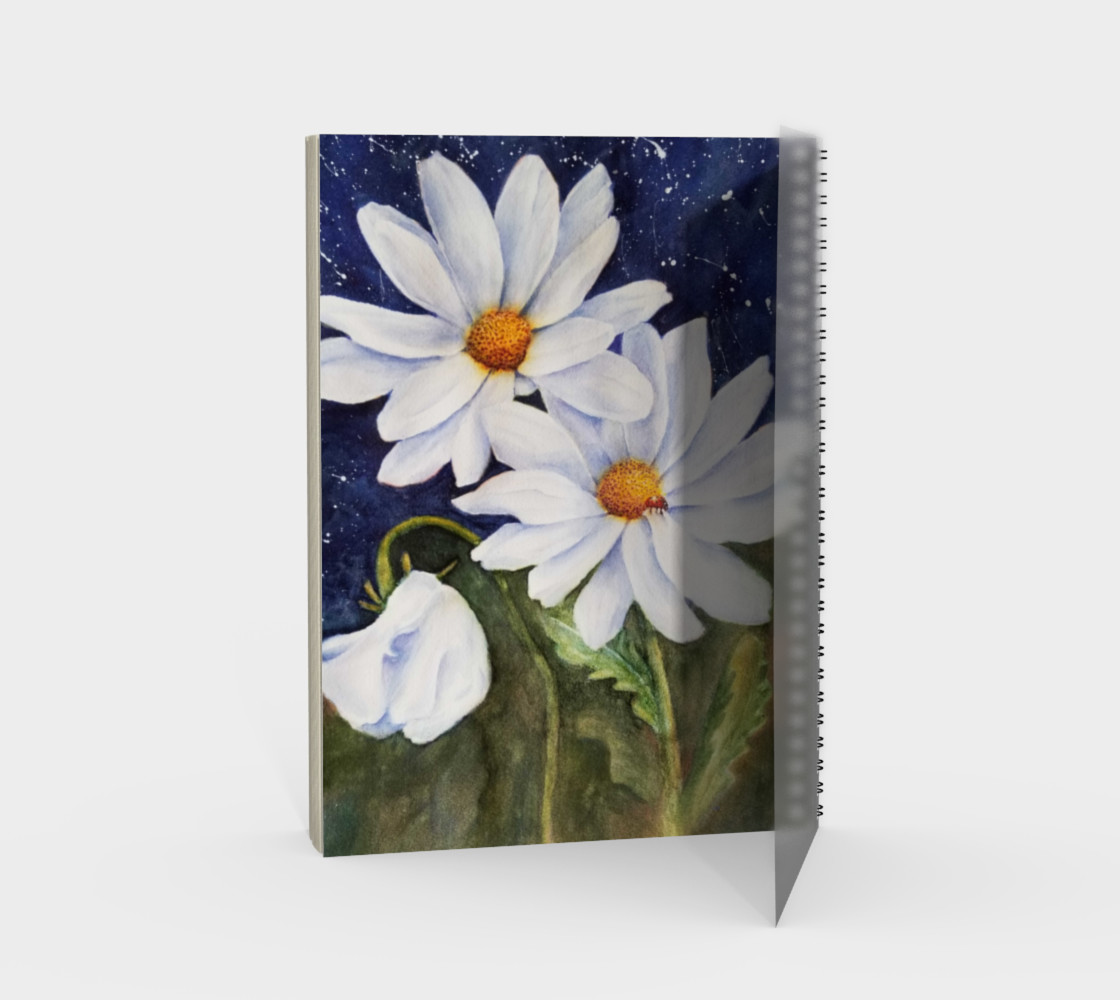 White Daisies Spiral Notebook preview #2