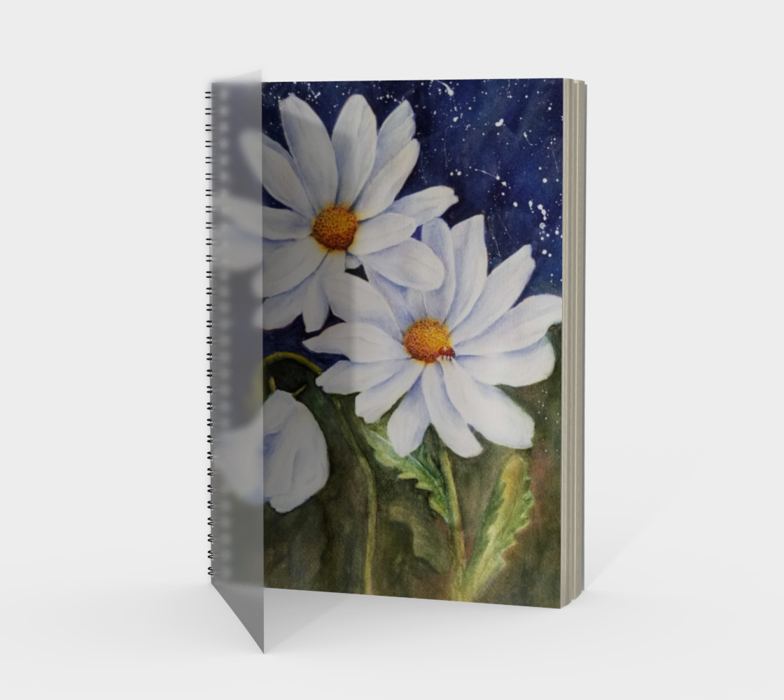 White Daisies Spiral Notebook preview #1