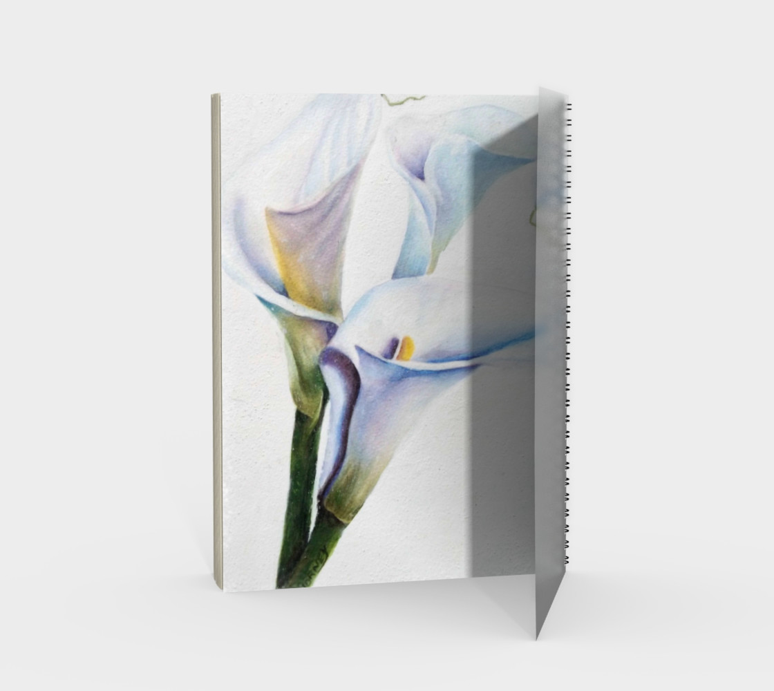 Calla Lilies Spiral Notebook preview #2