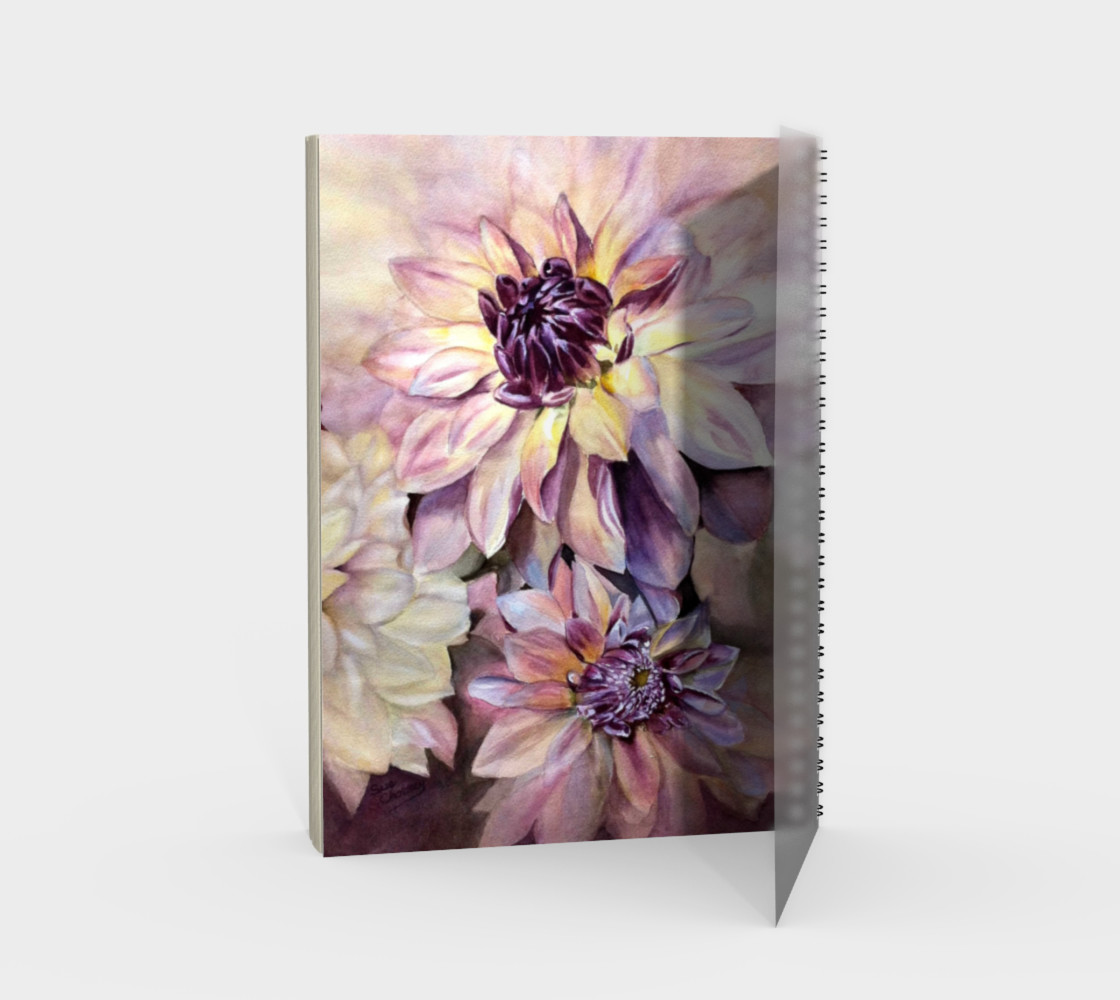 Dahlias Spiral Notebook preview #2