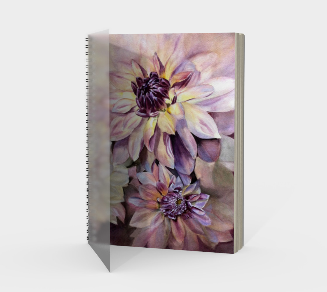 Dahlias Spiral Notebook preview #1