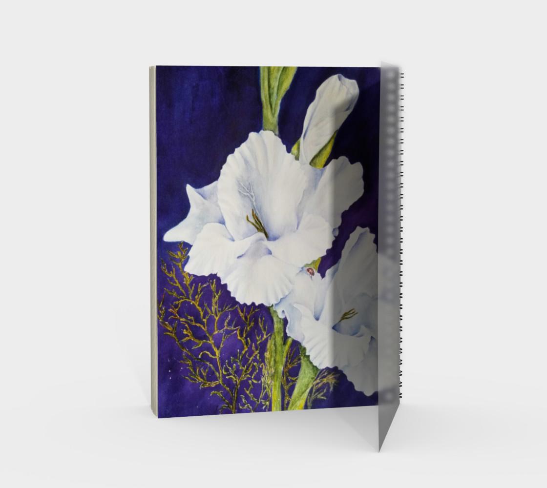White Gladiolas Spiral Notebook preview #2