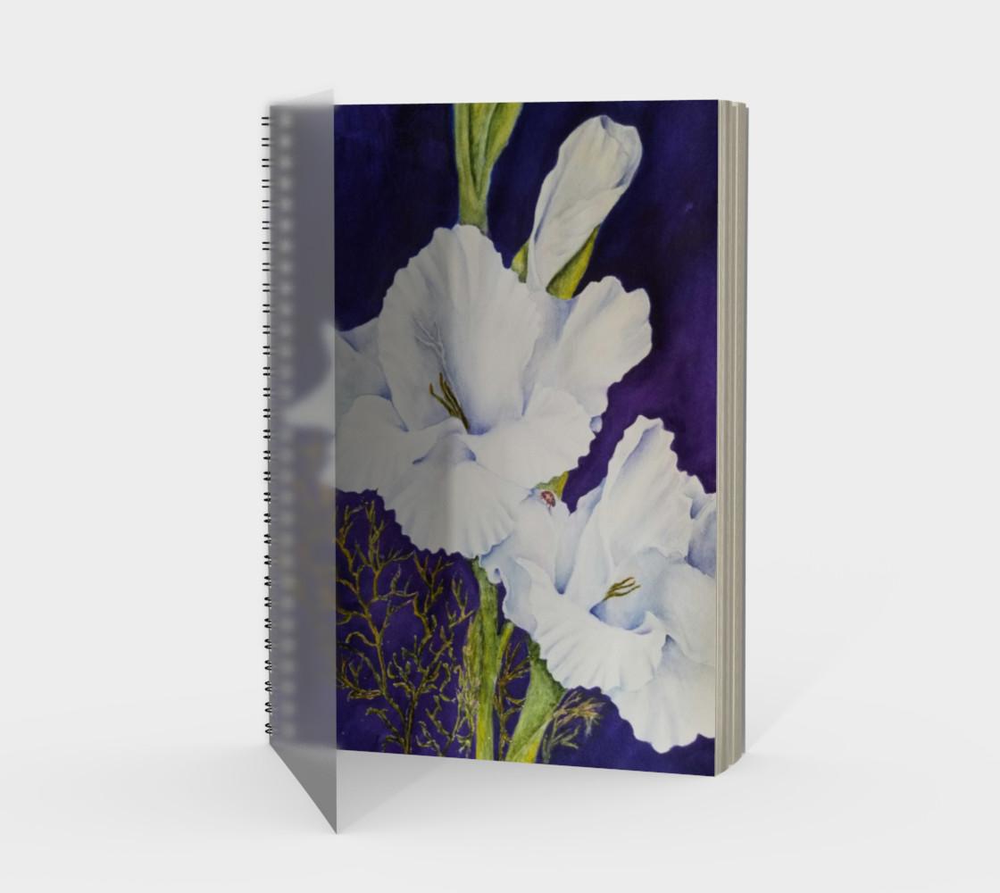 White Gladiolas Spiral Notebook preview #1