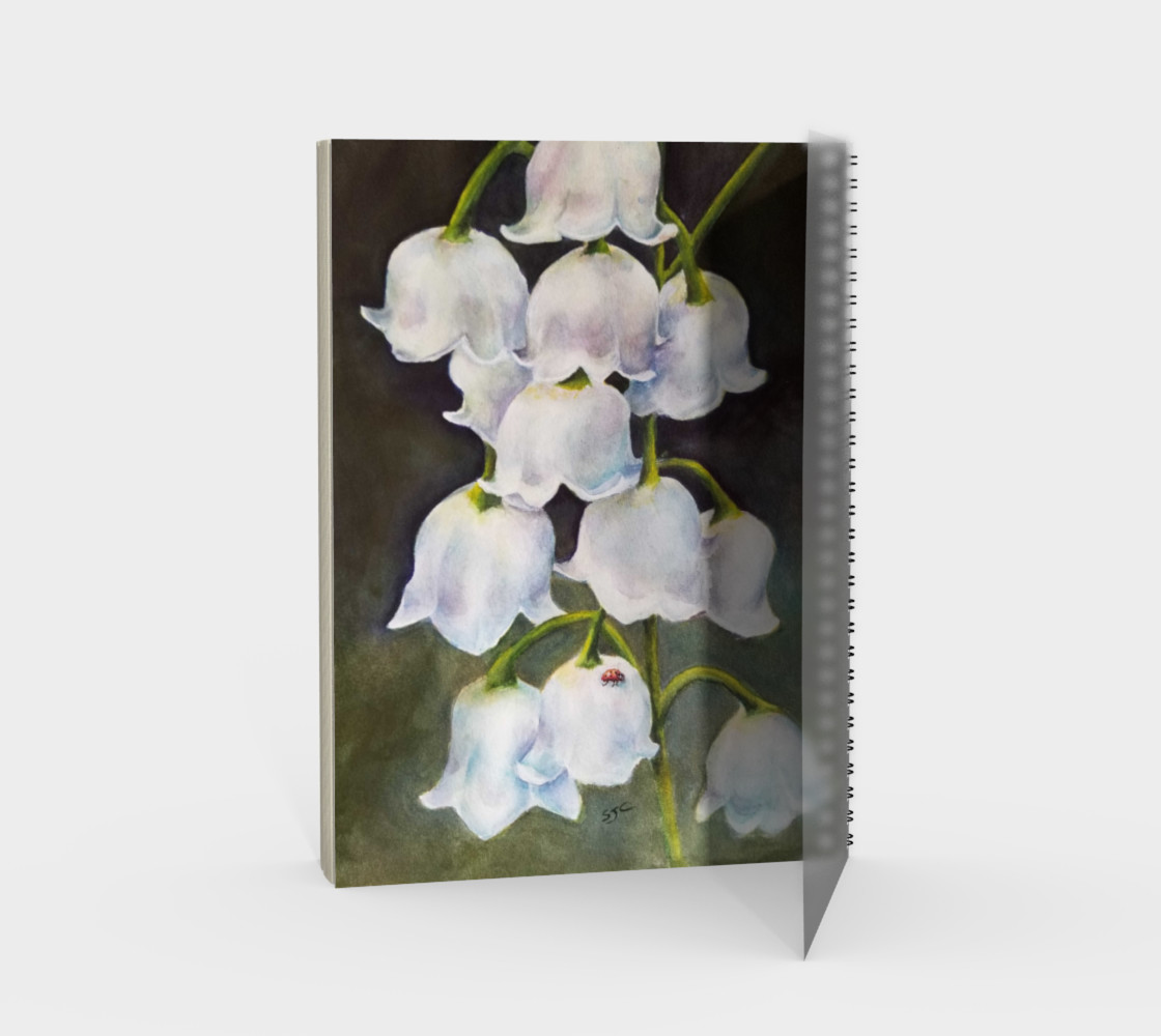 Lily of the Valley Spiral Notebook preview #2