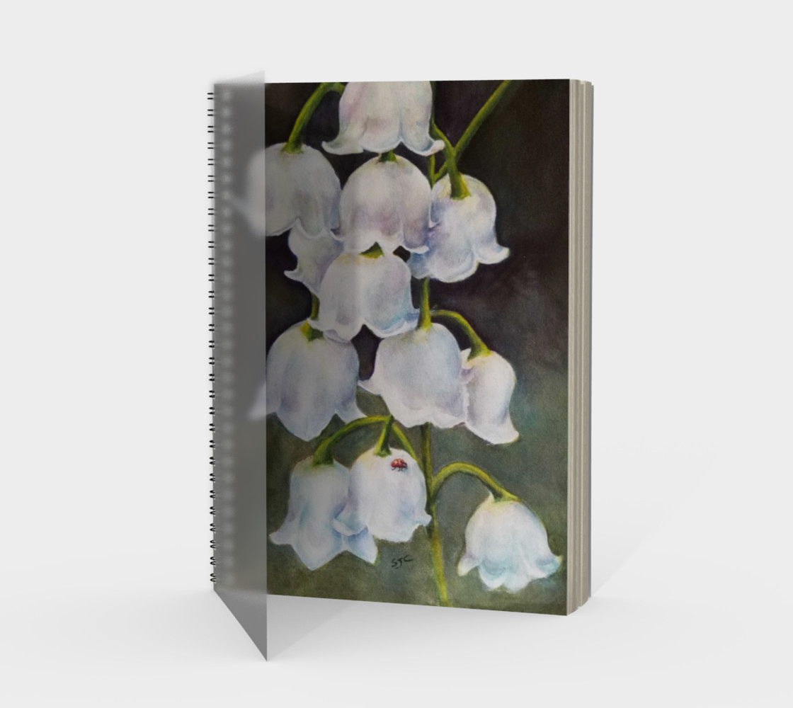 Lily of the Valley Spiral Notebook preview #1