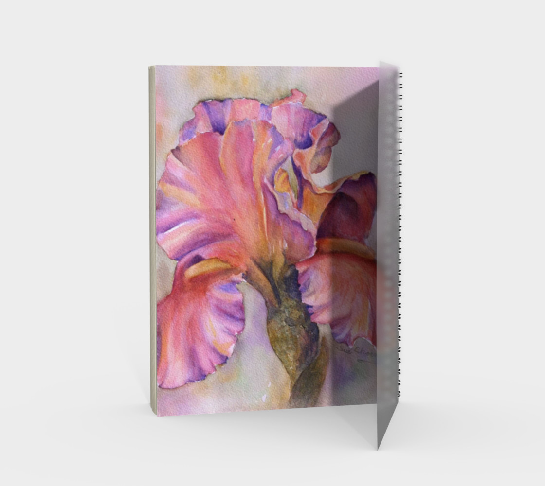 Pink Iris Spiral Notebook preview #2