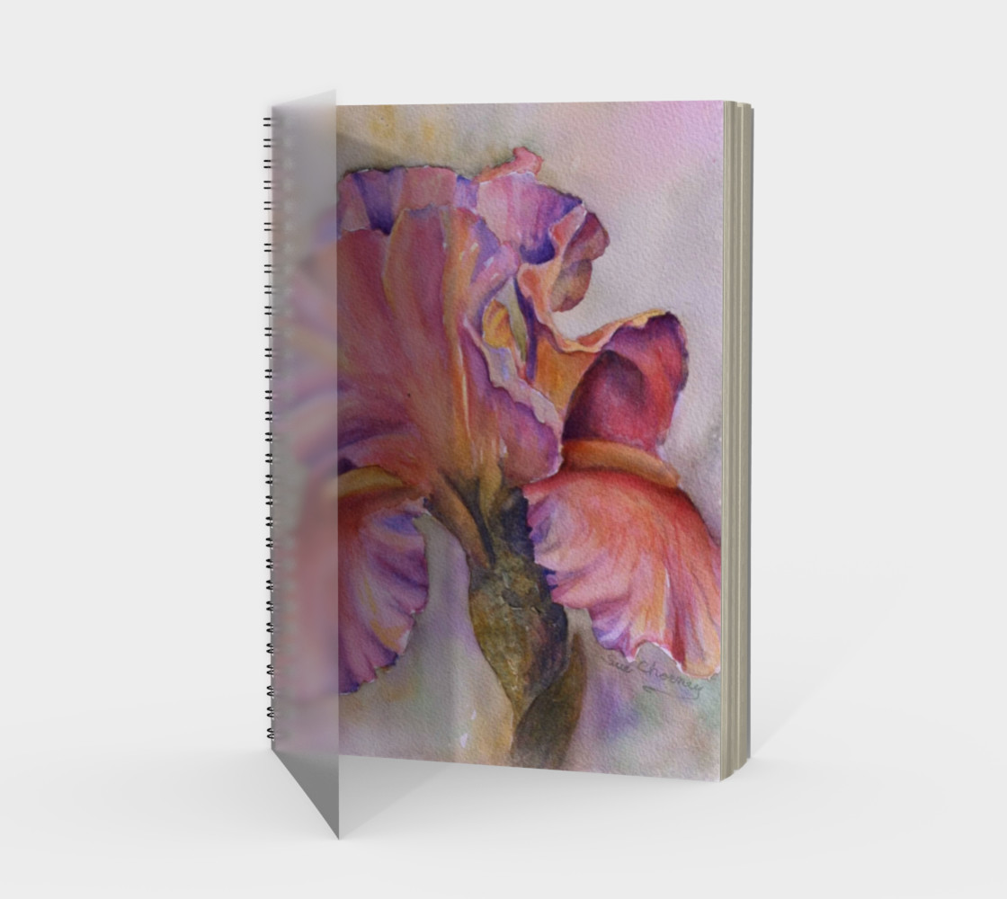 Pink Iris Spiral Notebook preview #1