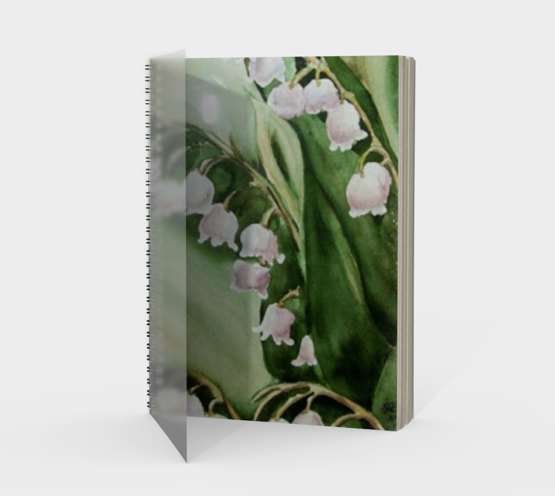 Lily Fronds Spiral Notebook preview #1