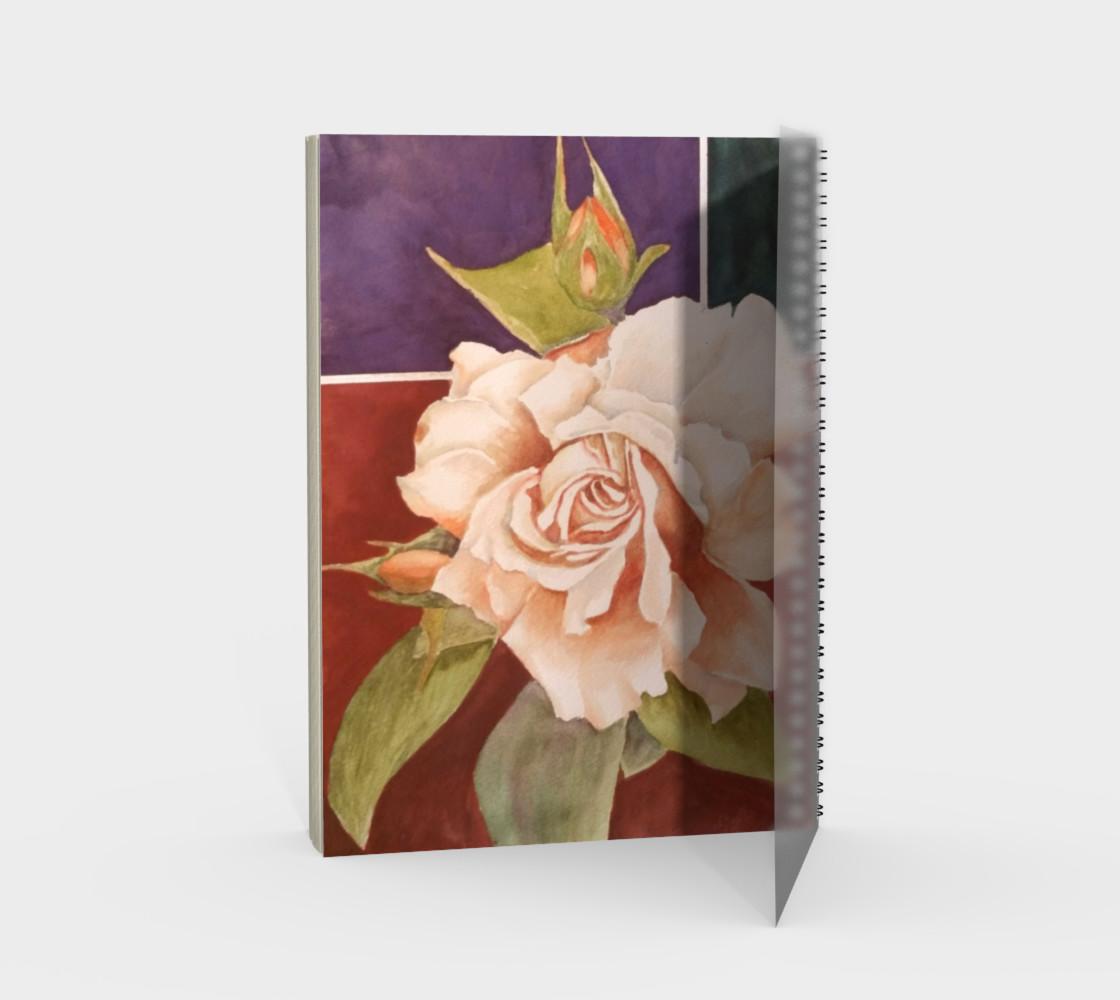 Aperçu de Antique Rose Spiral Notebook #2