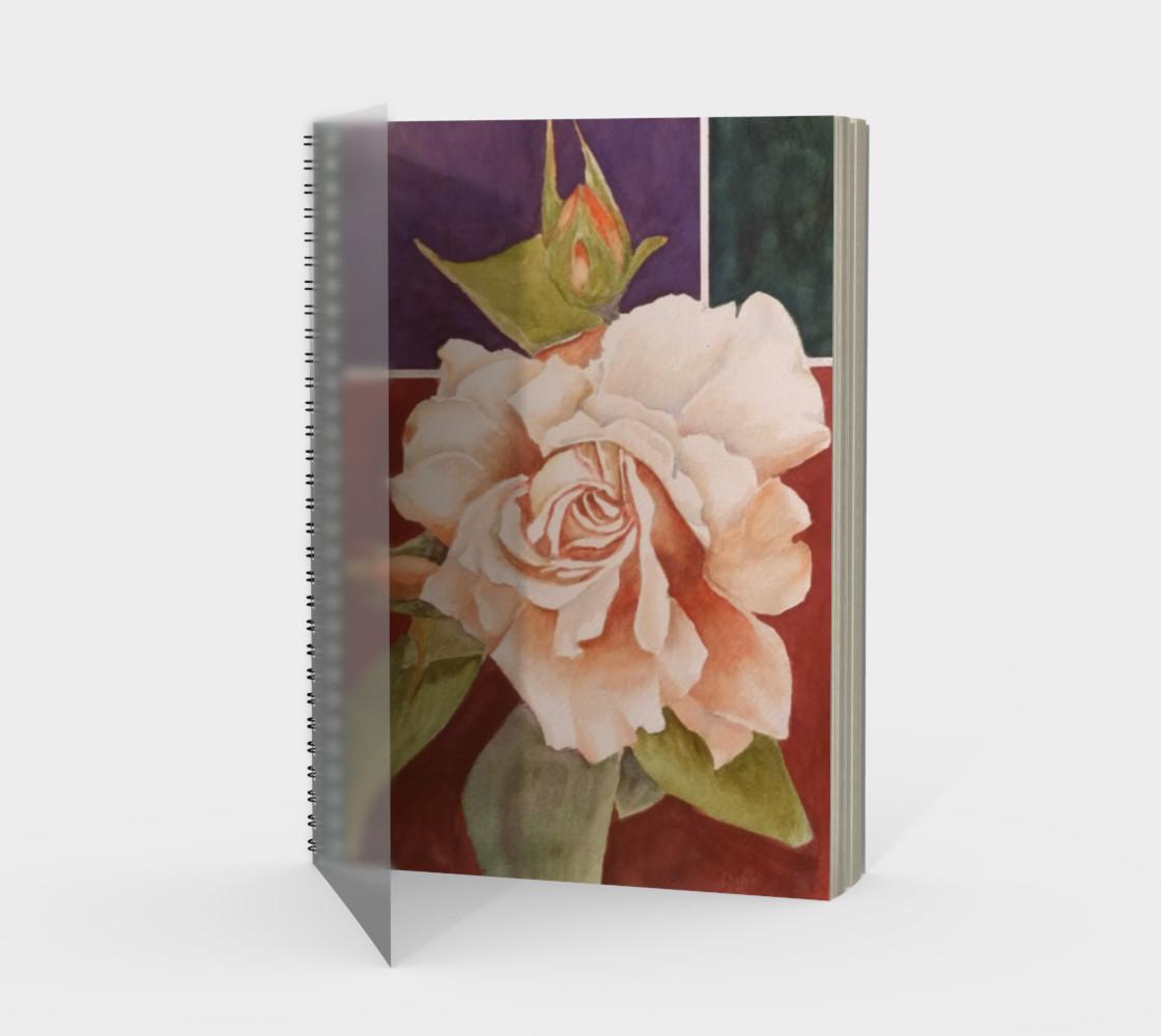 Aperçu de Antique Rose Spiral Notebook #1