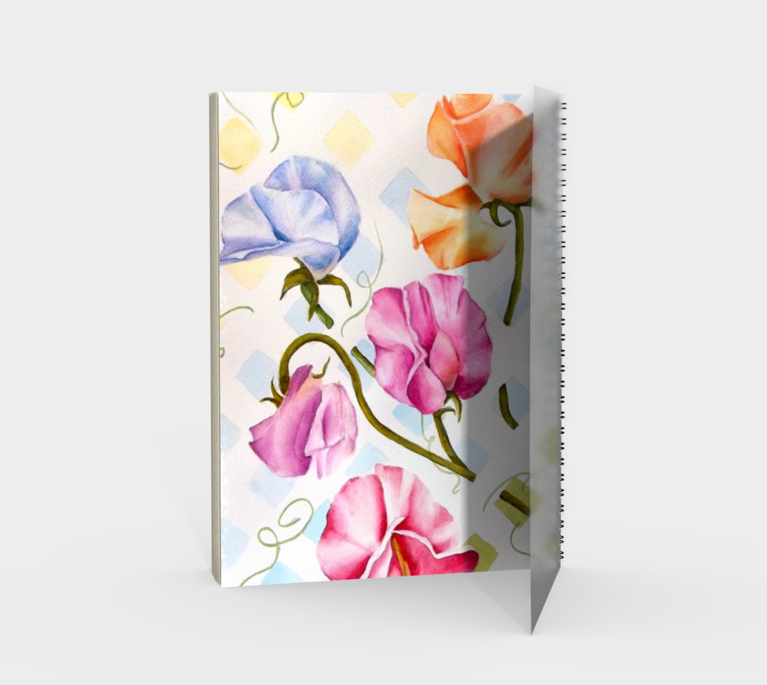 Sweetpeas Spiral Notebook preview #2