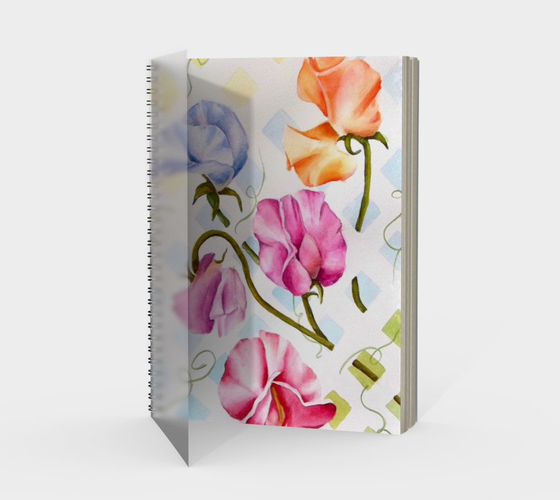 Sweetpeas Spiral Notebook preview #1