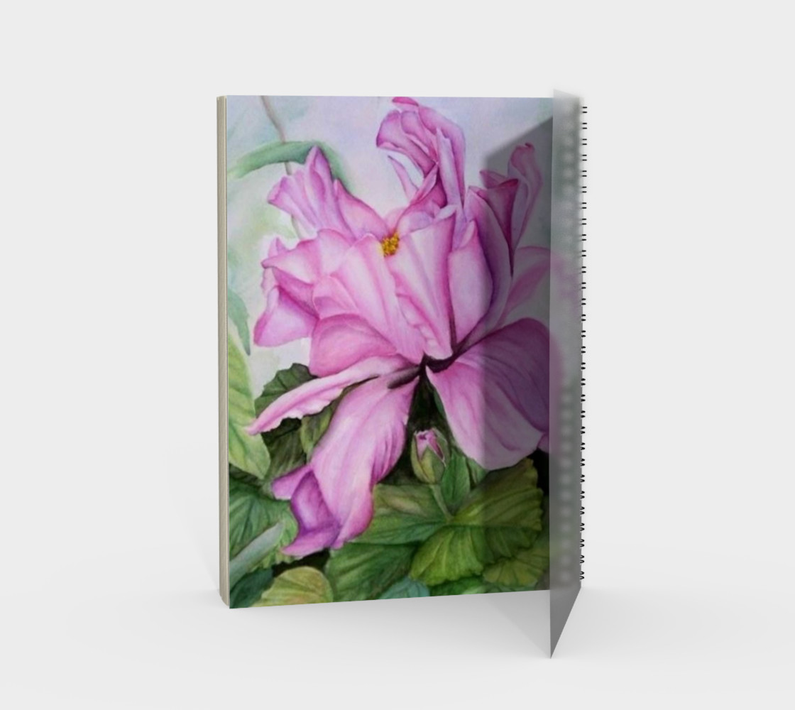 Tropical Orchid Spiral Notebook preview #2